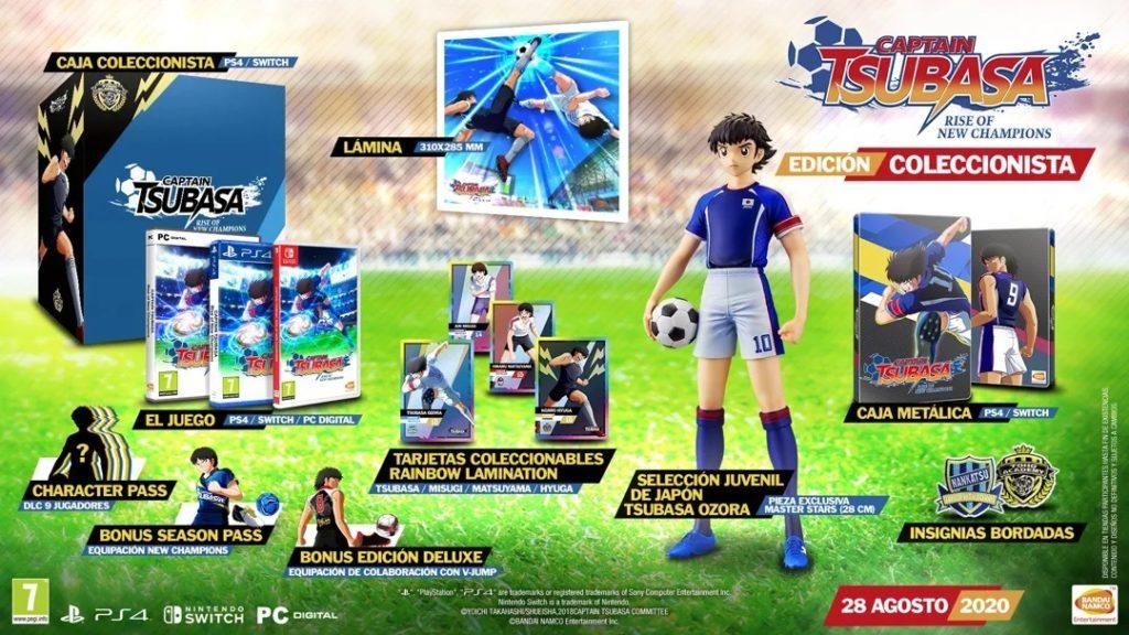captain tsubasa rise of new champions - edicion coleccionista