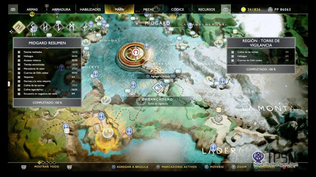 lago de los nueve god of war