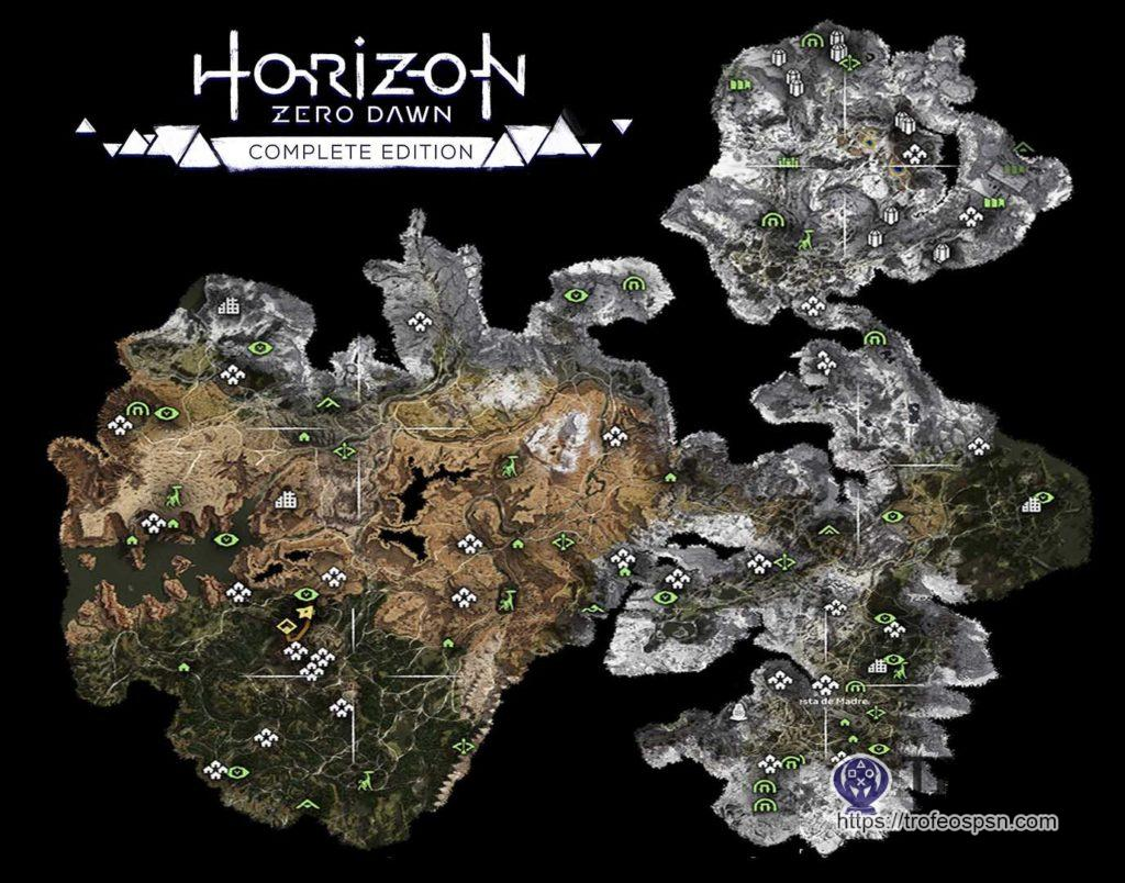 Mapa Completo Horizon Zero Dawn Complete Edition