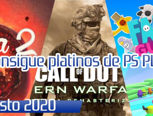 guias Platinos y de trofeos de Juegos de ps plus en agosto 2020