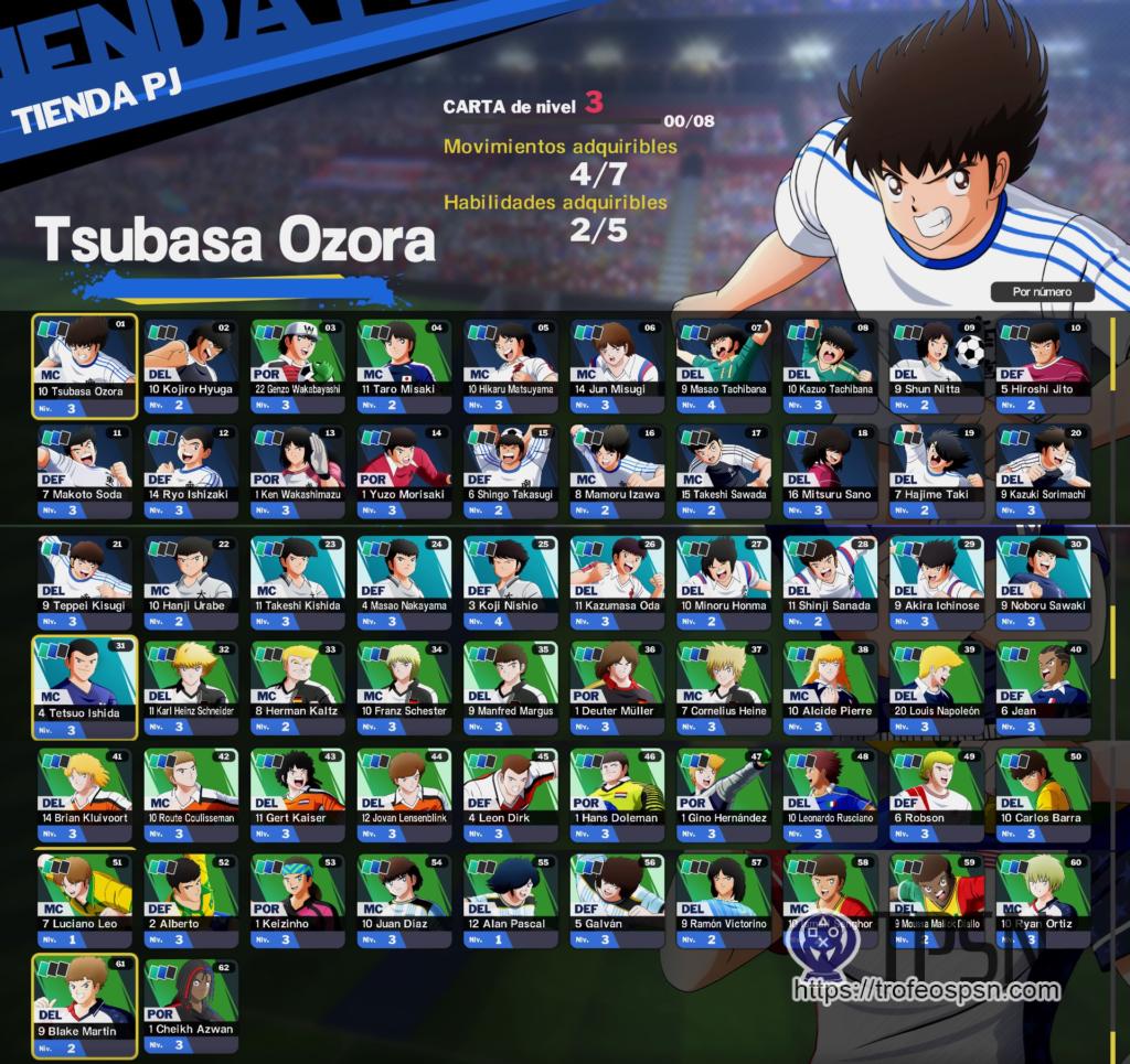 trofeo plantilla rival captain tsubasa ps4 ps5