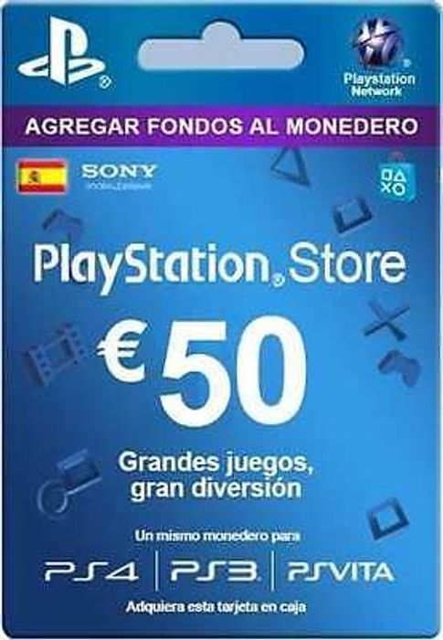 tarjeta saldo 50 Playstation Store